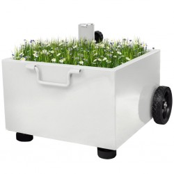 stradeXL Outdoor Umbrella Stand Plant Pot White