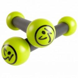 Zumba Ciężarki Toning Sticks 2 szt., 0,5 kg, zielone, ZUM010