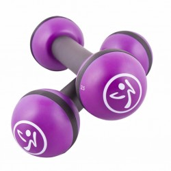 Zumba Ciężarki Toning Sticks, 2 szt., 1 kg, fioletowe ZUM011