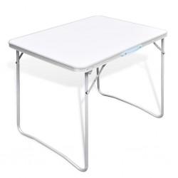 Składany stół kempingowy z metalową ramą 80 x 60 cm