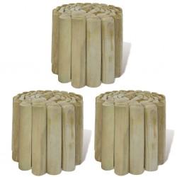 stradeXL Lawn Log Rolls 3 pcs Wood 250x20 cm