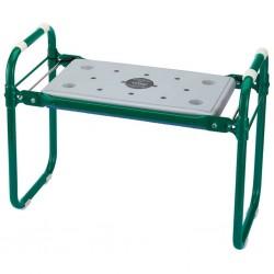 Draper Tools Składane krzesło/klęcznik ogrodowy, żelazny, zielony