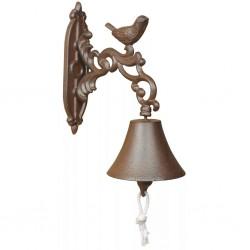 Esschert Design Dzwonek do drzwi, brązowy, żeliwny, BR22