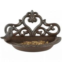 Esschert Design Karmnik dla ptaków, brązowy, żeliwny, BR26