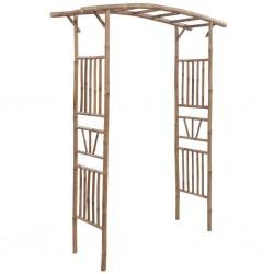 stradeXL Arkada różana, bambusowa, 145x40x187 cm
