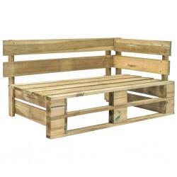 stradeXL Ogrodowa ławka narożna z palet, drewno