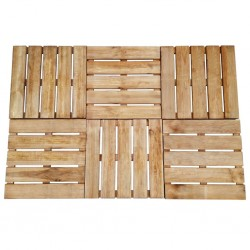 stradeXL Płytki tarasowe, 6 szt., 50 x 50 cm, drewno, brązowe