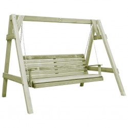 stradeXL Garden Swing Bench Impregnated Pinewood 205x150x157 cm