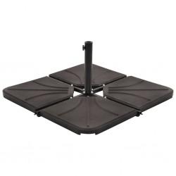 stradeXL Umbrella Weight Plate Black Concrete Square 18 kg