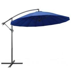 stradeXL Parasol ogrodowy, wiszący, niebieski, 3 m, słupek aluminiowy