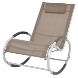 stradeXL Ogrodowy fotel bujany, taupe, textilene