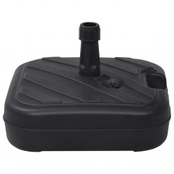 stradeXL Umbrella Base Sand/Water Filled 24 L Black