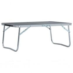 stradeXL Składany stolik turystyczny, szary, aluminiowy, 60 x 40 cm