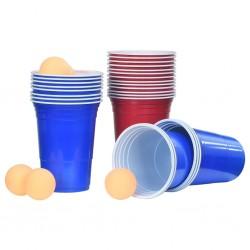 stradeXL Zestaw do Beer Ponga stołowego, 0,5 L, plastik