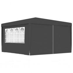 stradeXL Namiot imprezowy ze ściankami, 4x4 m, antracytowy, 90 g/m²