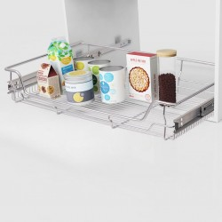 stradeXL Pull-Out Wire Baskets 2 pcs Silver 800 mm