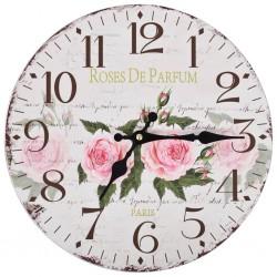 stradeXL Zegar ścienny w stylu vintage, kwiat, 30 cm