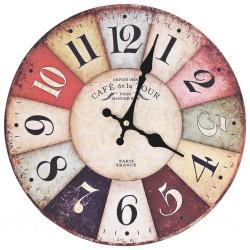 stradeXL Vintage Wall Clock Colourful 30 cm
