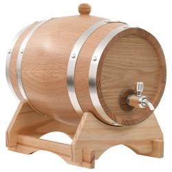 stradeXL Beczka na wino z kranikiem, lite drewno dębowe, 6 L