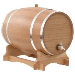 stradeXL Beczka na wino z kranikiem, lite drewno dębowe, 35 L