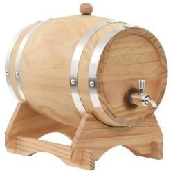 stradeXL Beczka na wino z kranikiem, lite drewno sosnowe, 6 L