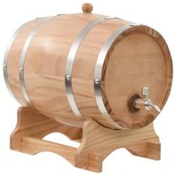 stradeXL Beczka na wino z kranikiem, lite drewno sosnowe, 12 L