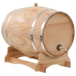 stradeXL Wine Barrel with Tap Solid Pinewood 35 L