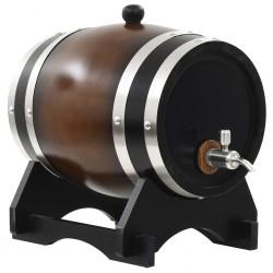 stradeXL Wine Barrel with Tap Solid Pinewood 6 L