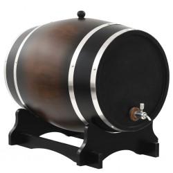 stradeXL Beczka na wino z kranikiem, lite drewno sosnowe, 35 L