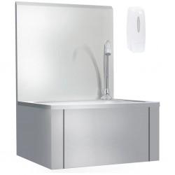 stradeXL Bezdotykowa umywalka z kranem do rąk i dozownikiem mydła, stal