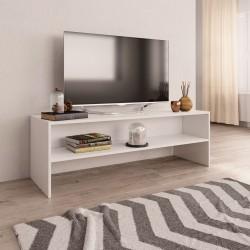 stradeXL Szafka pod TV, biała, 120 x 40 x 40 cm, płyta wiórowa