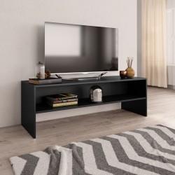 stradeXL Szafka pod TV, czarna, 120 x 40 x 40 cm, płyta wiórowa