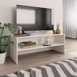 stradeXL Szafka pod TV, biała, 100 x 40 x 40 cm, płyta wiórowa