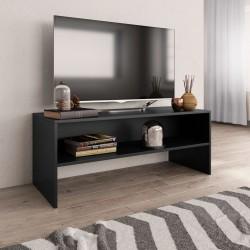 stradeXL Szafka pod TV, czarna, 100 x 40 x 40 cm, płyta wiórowa