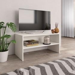 stradeXL Szafka pod TV, biała, 80 x 40 x 40 cm, płyta wiórowa