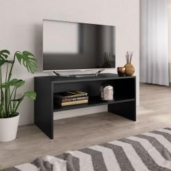 stradeXL Szafka pod TV, czarna, 80 x 40 x 40 cm, płyta wiórowa