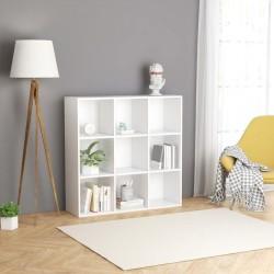stradeXL Regał na książki, biały, 98 x 30 x 98 cm, płyta wiórowa