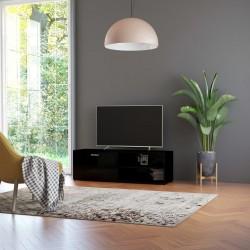 stradeXL Szafka pod TV, czarna na wysoki połysk, 120x34x37 cm