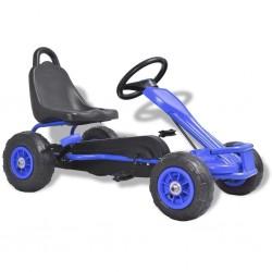 stradeXL Gokart na pedały, z oponami pneumatycznymi, niebieski