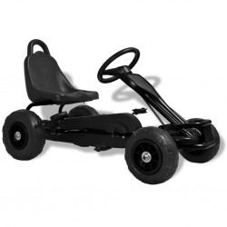 stradeXL Pedal Go-Kart with Pneumatic Tyres Black