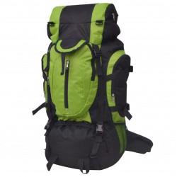 stradeXL Plecak turystyczny XXL 75 L, czarno-zielony