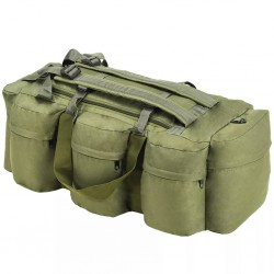 stradeXL 3-in-1 Army-Style Duffel Bag 120 L Olive Green