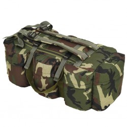 stradeXL 3-in-1 Army-Style Duffel Bag 120 L Camouflage