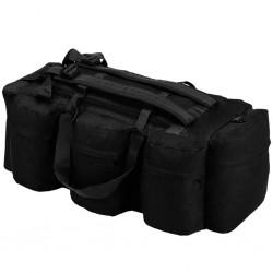 stradeXL 3-in-1 Army-Style Duffel Bag 120 L Black