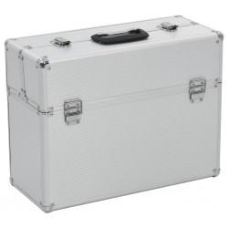 stradeXL Skrzynka na narzędzia, 47 x 36 x 20 cm, srebrna, aluminium