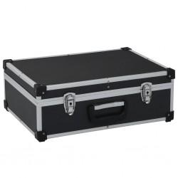 stradeXL Walizka na narzędzia, 46 x 33 x 16 cm, czarna, aluminium