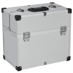 stradeXL Skrzynka na narzędzia, 38x22,5x34 cm, srebrna, aluminium