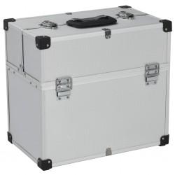stradeXL Skrzynka na narzędzia, 43,5 x 22,5 x 34 cm, srebrna, aluminium
