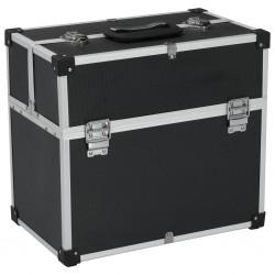 stradeXL Skrzynka na narzędzia, 43,5 x 22,5 x 34 cm, czarna, aluminium