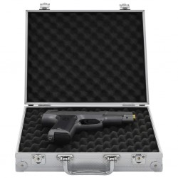 stradeXL Futerał na broń, aluminium, ABS, srebrny